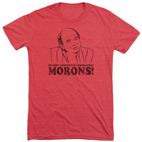 PRINCESS BRIDE/MORONS-S/S ADULT TRI-BLEND-RED-LG