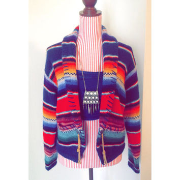 Vintage Boho Sweater Jacket