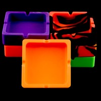 Square Silicone Ashtray - M191