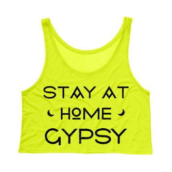 Stay at Home Gypsy Crop Tank Top