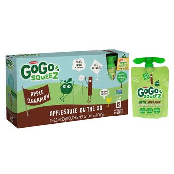 Gogo Squeez Applesauce On The Go Apple Cinnamon Pouches - 3.2oz 12ct