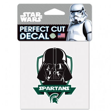"NCAA Michigan State Spartans 4"" x 4"" Darth Vader Perfect Color Decal"