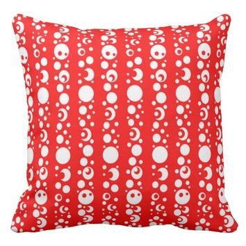 Red Cotton Throw Pillow 20x20