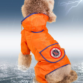 Pet Dog Raincoat Waterproof Clothes Jacket Casual Hoodie Raincoat for Dogs Rain Slicker Jacket Clothes For Cat Dog Clothes