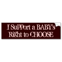 Pro-Life Bumper Stickers, A Baby's Right from Zazzle.com