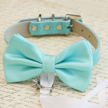 Blue Dog Bow Tie ring bearer, Pet lovers, Beach wedding, Ocean wedding collar