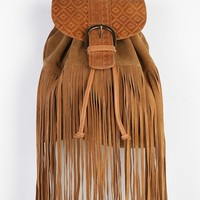 Ecote Manzano Suede Fringe Backpack - Urban Outfitters