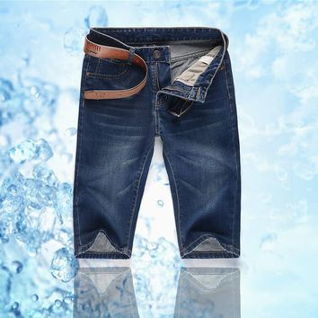 summer men must have cool denim shorts young men casual straight shorts factory price