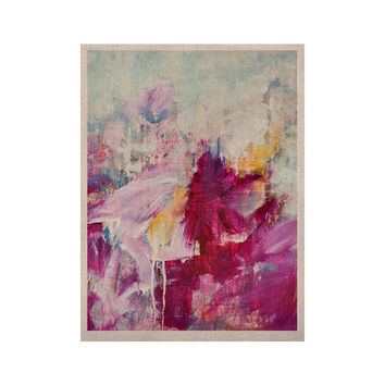 "Iris Lehnhardt ""Magenta"" Pink Paint KESS Naturals Canvas (Frame not Included)"