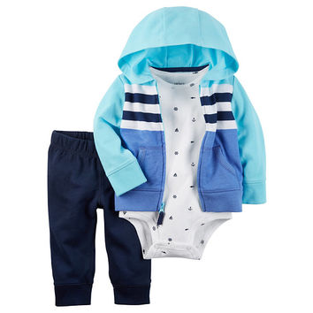 Carter's Long Sleeve Hoodie - Baby Boys - JCPenney