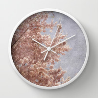 Beautiful Day - (pink cherry blossoms) Wall Clock by CMcDonald