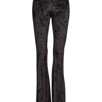 Black Velvet Flared Bell Bottom Pants
