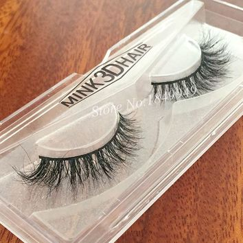 1 Box 1 Pair Packaging Mink 3D False Eyelashes Natural Crisscross Messy Luxury Vivid Fake Eyelashes 100% Handmade  Makeup Lashes