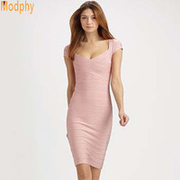 women's short sleeve celebrity bandage dress cocktail party homecoming drop shipping MD1315