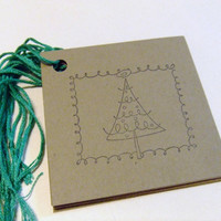 Tree Of Lights Stamped Christmas Gift Tags - Set of 10