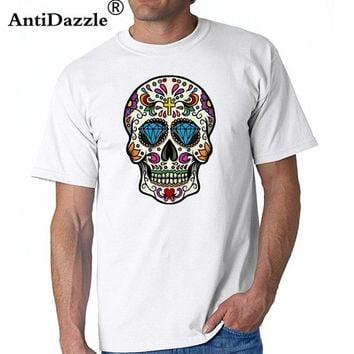 Vestidos verano 2017 kanye west shirt for male Sugar mexican skull Print t shirt men fitness slim t-shirt man clothes cheap sale