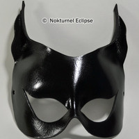 Catwoman Black Leather Mask Harley Quinn Gothic Super Hero Fantasy Fetish Role Playing Batgirl Halloween Costume