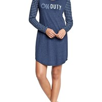 Old Navy Womens Graphic Jersey Sleep Dresses Size L - Goodnight nora
