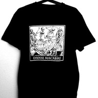 T-Shirt for man with illustration of skulls DANSE MACABRE,black color,gothic,goth,punk,alternative,occultism,witchcraft,macabre art,horror