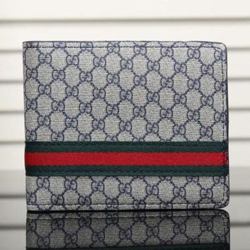 DCCK Gucci Man Leather Purse Wallet1