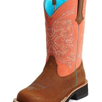 Ariat Peach Fatbaby Cowgirl Boots - Round Toe - Sheplers