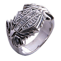 Harley Davidson Ring Motor Cycle Jewelry for Men's Fashion: Harley Davidson Ring Motor Cycle Jewelry for Men's Fashion-Size 10
