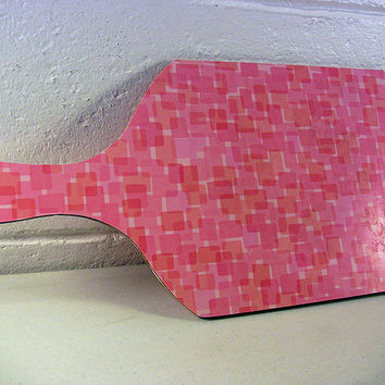 Mid-Century Cutting Board Pink Retro Kitchen Tableware