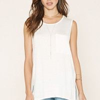 Slub Knit Pocket Tank | Forever 21 - 2000176585