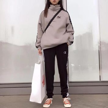 """""""Champion"""" Unisex Sport Casual Side Stitching Webbing Thickened Sweatpants Couple Leisure Pants Trousers"""