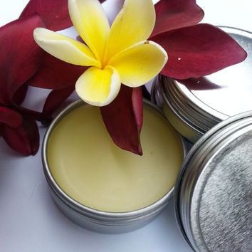 Frangipani Solid Perfume: Plumeria-Infused Natural Balm with Jasmine, Ginger, and Ylang Ylang