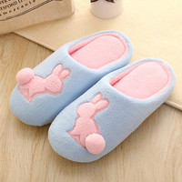 Cartoons Couple Cotton Lovely Winter Home Soft Quiet Slippers [9067739140]