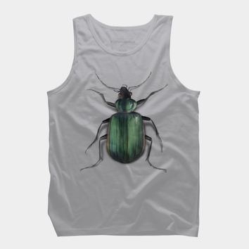 Green Beetle Watercolor Tank Top By IvaW Design By Humans