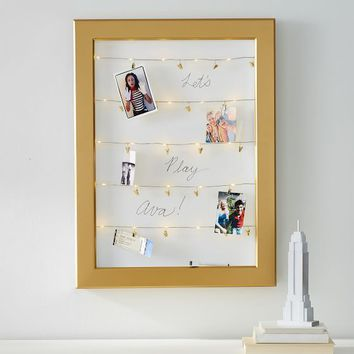 Statement Cable Frame With Dry-Erase Board, Gold