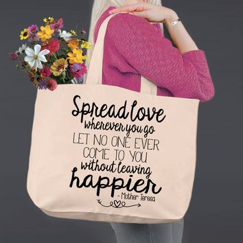 Spread Love | Mother Teresa | Canvas Tote Bag