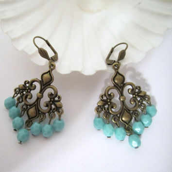 "Chandelier  Earrings - ""Fleur de Lis"" by 636designs"
