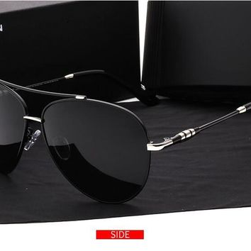 Luxury Brand Aluminum Magnesium Rimless Men's Sunglasses Polarized UV400 Lens Sun Glasses Male Eyewears Accessories For Men with Retail box