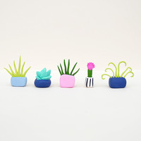 Mini Clay Plants - Set of 5 by This Way To The Circus
