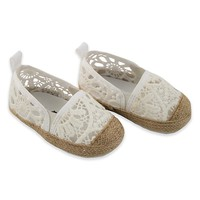 Rising Star™ Girls Eyelet Espadrille in White