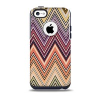 The Vintage Colored V3 Chevron Pattern Skin for the iPhone 5c OtterBox Commuter Case