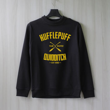 Hufflepuff Quidditch Harry Potter Shirt Sweatshirt Sweater Shirt – Size XS S M L XL