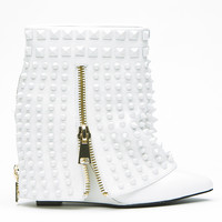 LUST FOR LIFE BATTLE WEDGE BOOTIE - WHITE