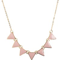Aeropostale  Womens Triangle Short-Strand Necklace - Pink