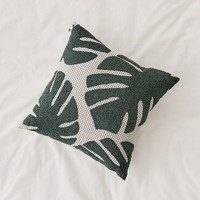 Crewel Palms Microcheck Throw Pillow | Urban Outfitters
