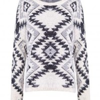 KNITTED GEO PRINT JUMPER