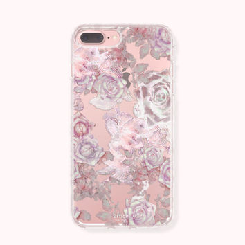 Floral iPhone 7 Case, iPhone 7 Plus Case, iPhone 6/6S Case, iPhone 6 Plus/6S Plus Case, iPhone 5/5S/SE Case, Galaxy Case - Antique Blossom