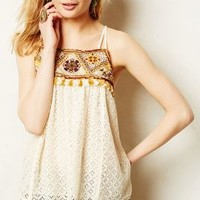 Tikal Tassel Tank by HD in Paris Neutral Motif