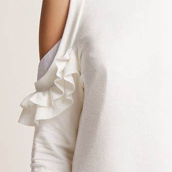 Ruffle Open-Shoulder Top