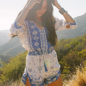 Coyote Playsuit – Sky