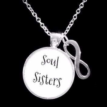 Souls Sisters Infinity Best Friend BFF Sister Friendship Gift Necklace