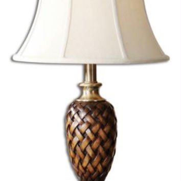 Table Lamp - Weathered Wood Tone Finish